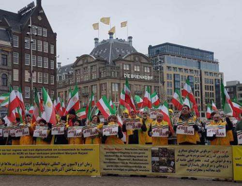 De opschudding van Iraniërs in Amsterdam ter ondersteuning van de opstand van het Iraanse volk