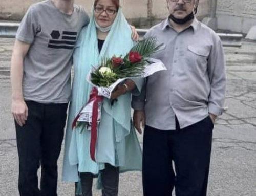 De politieke gevangene Arash Sadeghi is vrijgelaten uit de gevangenis