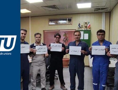 Australische Raad van Vakbonden solidair met stakende Iraanse arbeiders